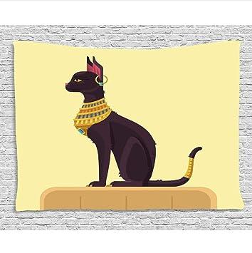 HYDDAXJW Arte Egipto Decoración Tapicería Antiguo Antiguo Tiempo Místico Gato De La Historieta Imagen De La