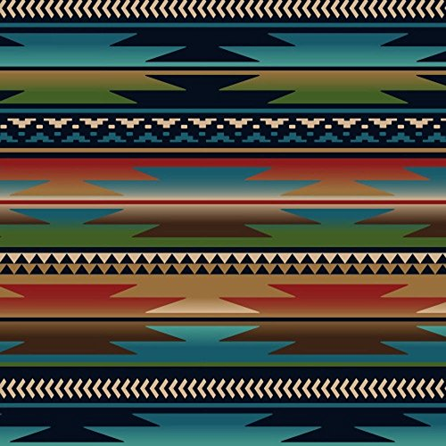 Sunset Strip Blue Southwest Fleece Fabric Print by the Yard ()