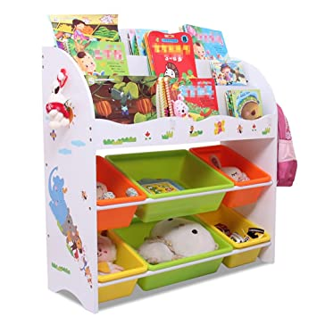 Porte-Jouets pour Enfants Étagère pour Livres de bébé Casier ...