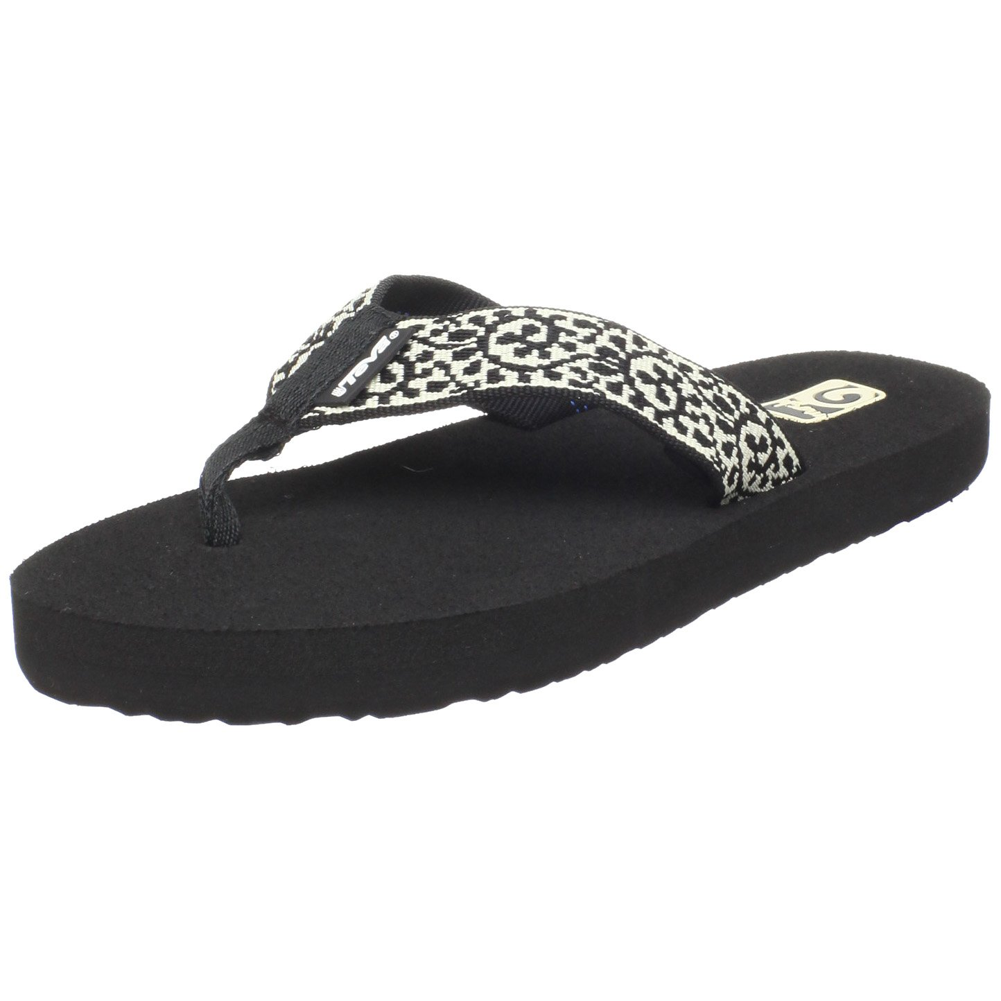 Teva Women's Mush II Flip-Flop B003TU151Q 11 B(M) US|Vineyard Skip Black and Cream