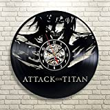 Attack on Titan Wall Clock Levi Gift Vinyl Vintage Decor Home Room 12 Inch (30cm) Review
