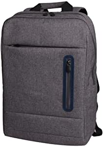 Polyester Backpack for Laptop Protective Shoulder Laptop Backpack for up to 15.6 Inch Laptops, Grey