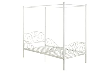 Amazon.com DHP Canopy Bed with Sturdy Metal Frame Twin Size White Kitchen u0026 Dining  sc 1 st  Amazon.com & Amazon.com: DHP Canopy Bed with Sturdy Metal Frame Twin Size ...