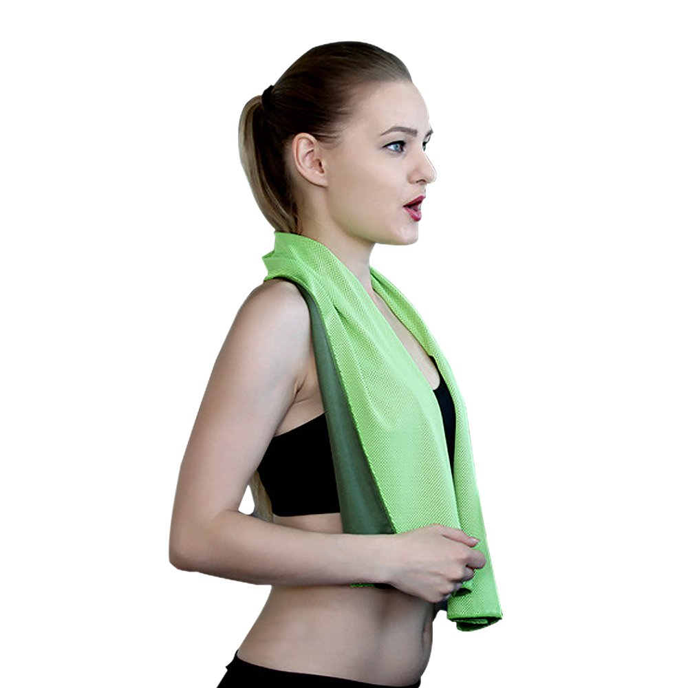 Cooling Towel for Instant Relief Microfiber - Stay Cool for Yoga Travel Climb Golf Workout Swimming Gym Yoga Travel Camping Fitness Sweat Towel