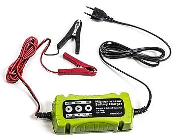 GRUNDIG Batterie Ladegerät KFZ Auto Lade Gerät für 12V und 6V Gel Batterie