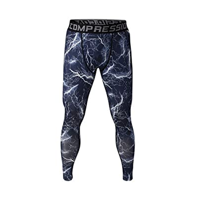 COOLOMG Compression Pants GYM Running Tights Length Pants Leggings For Men Youth Boy