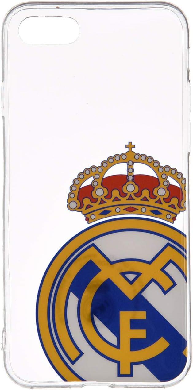 LA CASA DE LAS CARCASAS Funda Oficial del Real Madrid para iPhone (iPhone 7-8, Transparente)