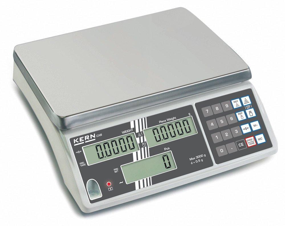 Balanza cuentapiezas - Modelo de principantes para contaje prof. [Kern CXB 15K1] , Campo de pesaje [Max]: 15 kg, Lectura [d]: 1 g: Amazon.es: Oficina y ...