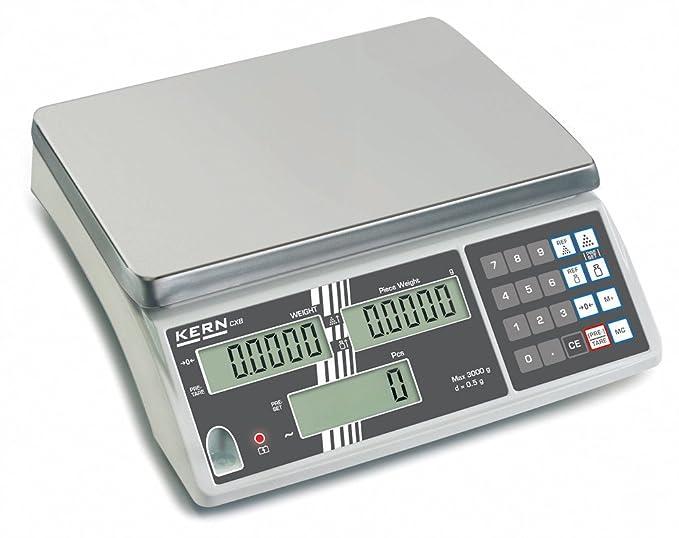 Balanza cuentapieza con aprobación de homologación [Kern CXB 3K1NM] Modelo de principantes para contaje prof., Campo de pesaje [Max]: 3 kg, Lectura [d]: 1 ...