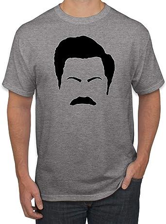 Details about  /MEN/'S PARKS AND RECREATION RON SWANSON COSTUME SIZE L XL missing mustache