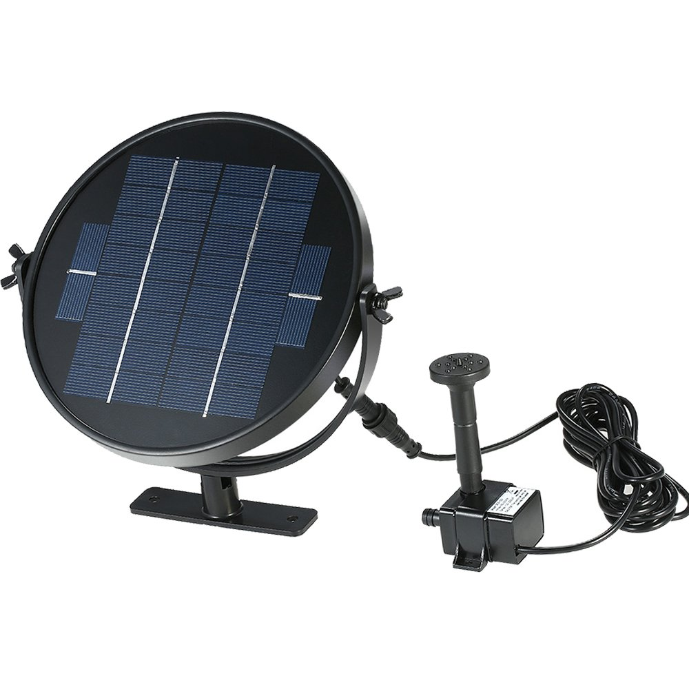 Solar Pump Panel Kit,Submersible Solar Water Pump Kit for Fountain Pool Water Gardens (3W)