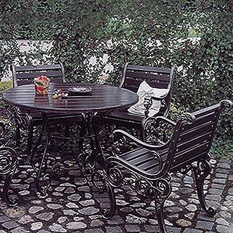 Rêve de Jardin Table de Jardin Ronde Fer forgé - Circum ...