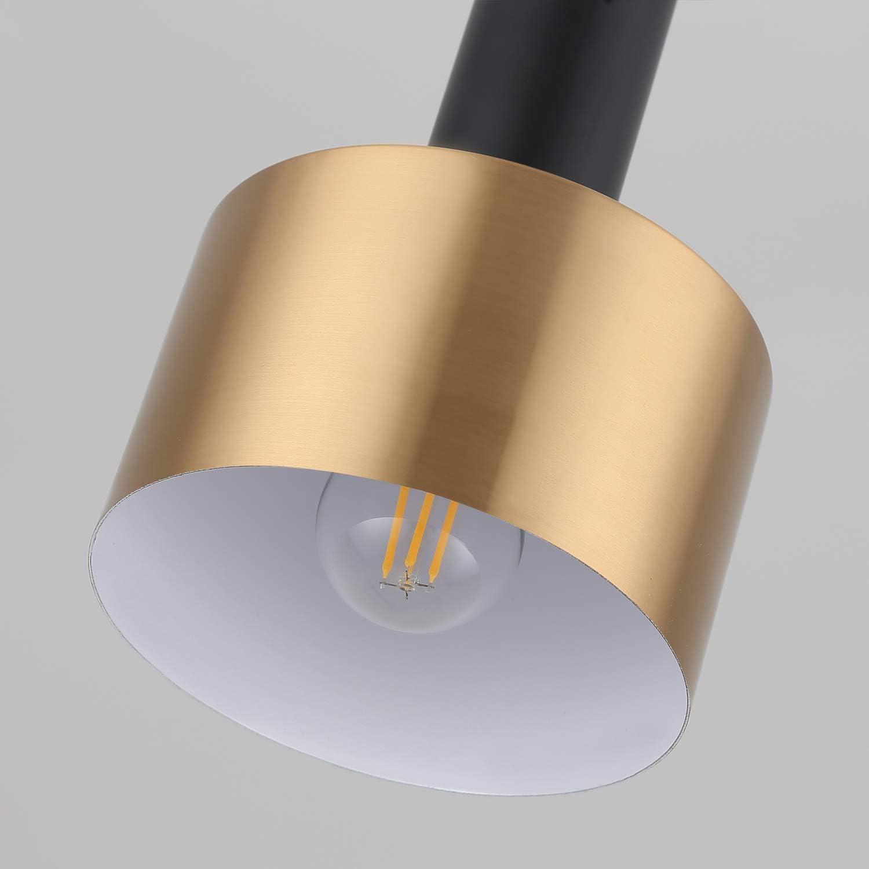 Hobaca E27 Noir Dor/é Luminaire Suspension Industrielle Luminaire Suspendu Contemporain Design Lustre Suspension Moderne Cuisine Salon Salle /à Manger Chambre