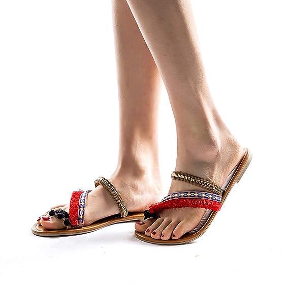 ❤absolute Étnicos Sandalias Mujer De Para Zapatos Playa Planos w4wI6
