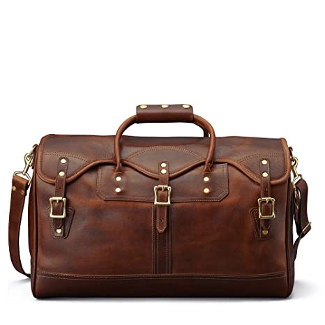 Number Seven Buffalo Leather Travel Weekender Overnight Duffel Bag Gym  Sports Luggage Bags for Men and Women  Amazon.ca  Luggage   Bags b6f94a97fa