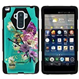 MINITURTLE Case Compatible w/LG G Stylo Phone Case, Silicome and PC Shock Impact Stand Case w/Dazzling Designs for LG G Stylo LS770, H631, MS631, LG G4 Stylus Painted Flowers