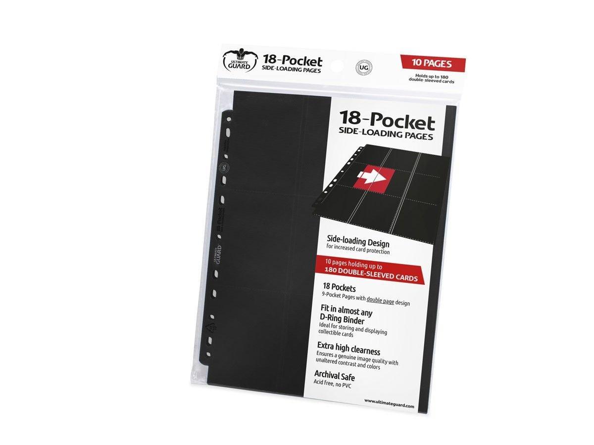 Ultimate Guard 18-Pocket Pages Side-Loading Album (Black) UGD010404