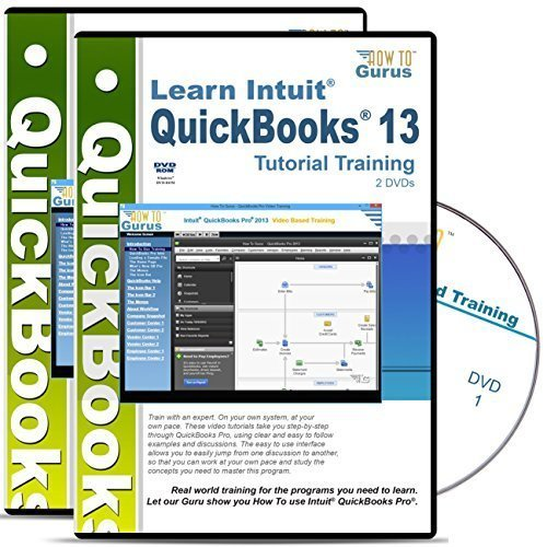 Intuit QuickBooks 2013-2009 Tutorial Training Course on 4 DVDs
