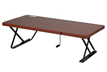 Superior Halter Manual Adjustable Height Table Top Sit / Stand Desk (Cherry)