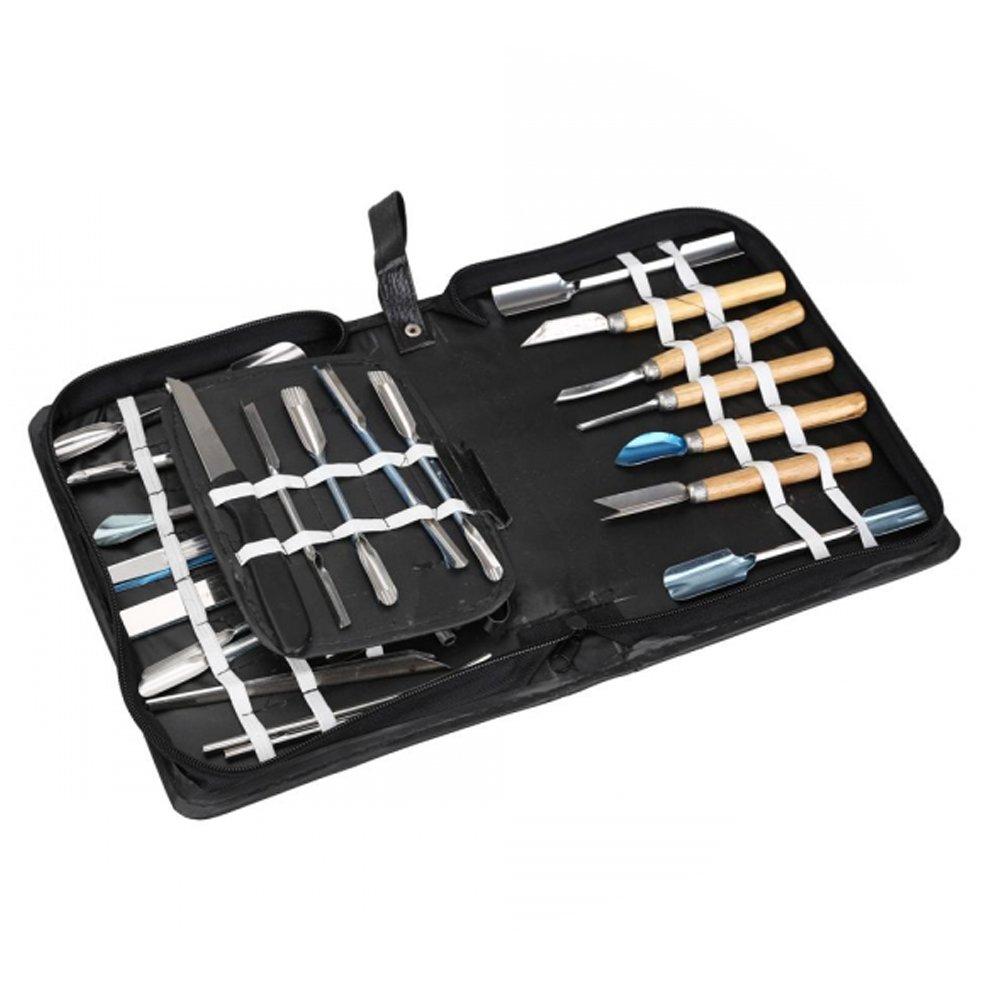 Vktech Culinary Carving Tool Set Fruit/vegetable Garnishing/cutting/slicing Set Garnish Tool Set (46pcs) by Vktech