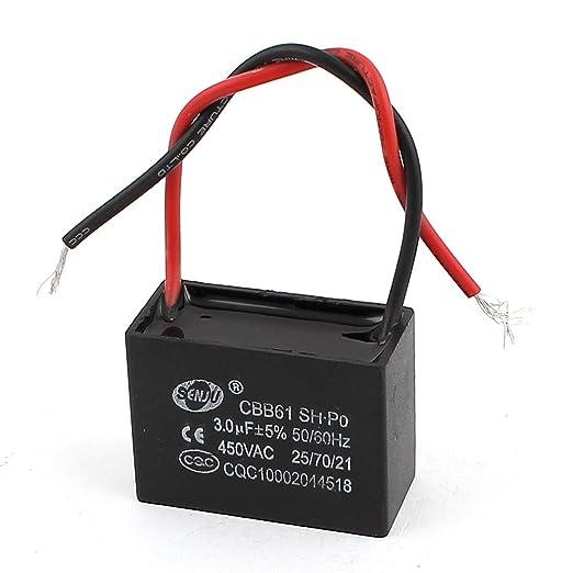AC 450V 50 / 60Hz 3.0uF Rechteck Deckenventilator Run Kondensator ...