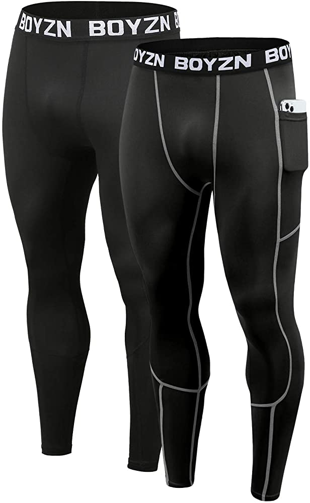 Mens Compression Under Skin Base Layer Pants Leggings Gym Sport Running Trousers