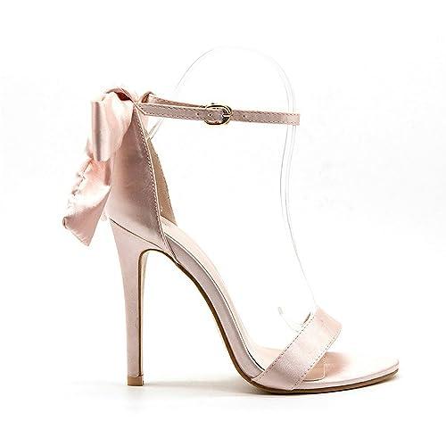 Sandalias con elegante lazo, punta aguja