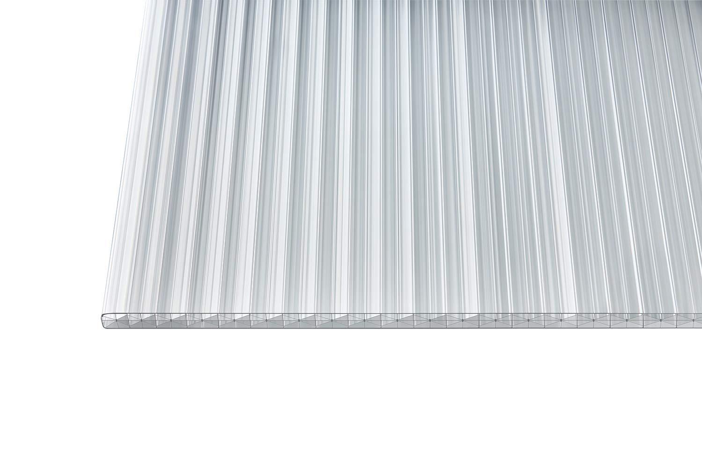 Polycarbonat Stegplatten Hohlkammerplatten X-Struktur klar light 16 mm 4000 x 980 x 16 mm