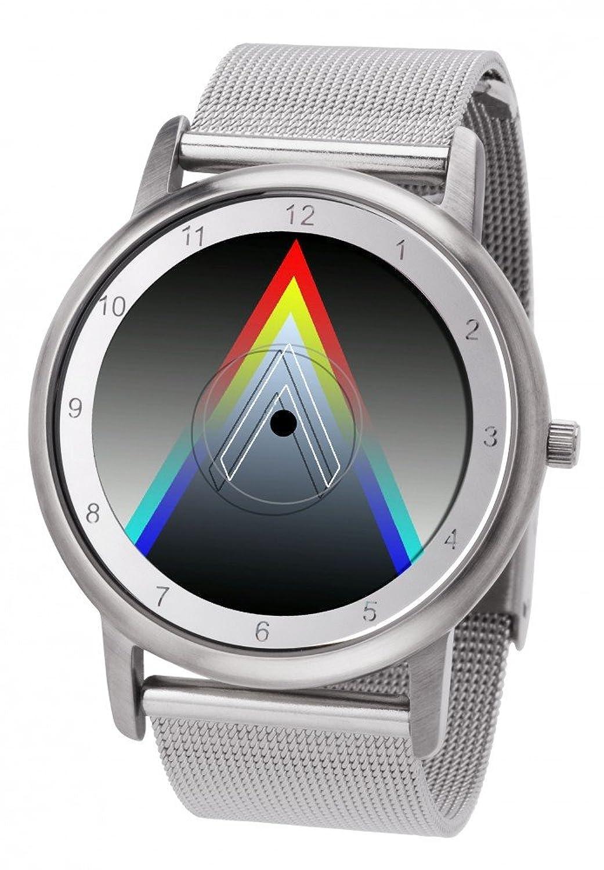 Avantgardia Vee (NEUES DESIGN) – Rainbow e-motion of color Unisex Armbanduhr EdelstahlgehÄuse
