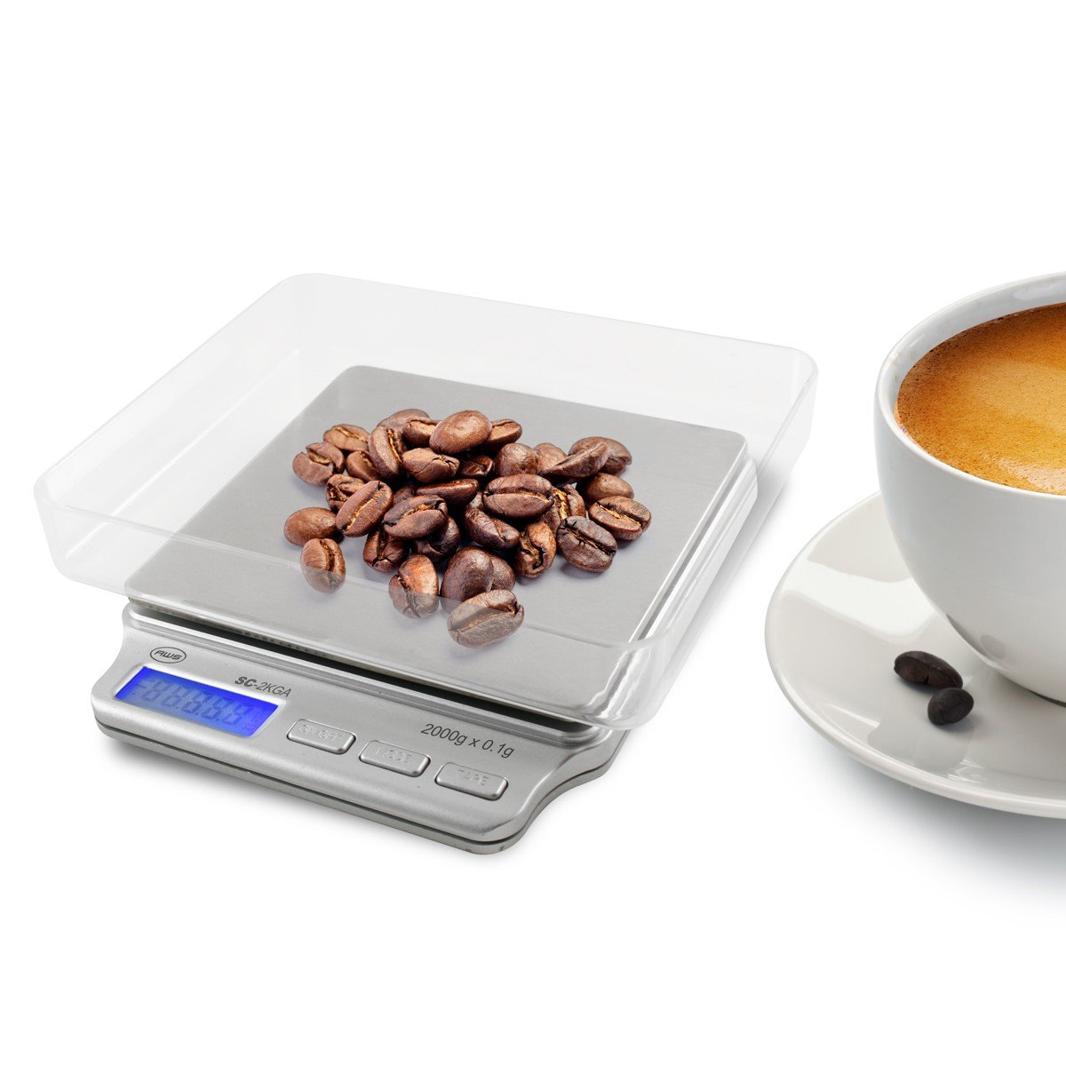 American Weigh Scales SC Series Digital Pocket Weight Scale, Silver best coffee scale