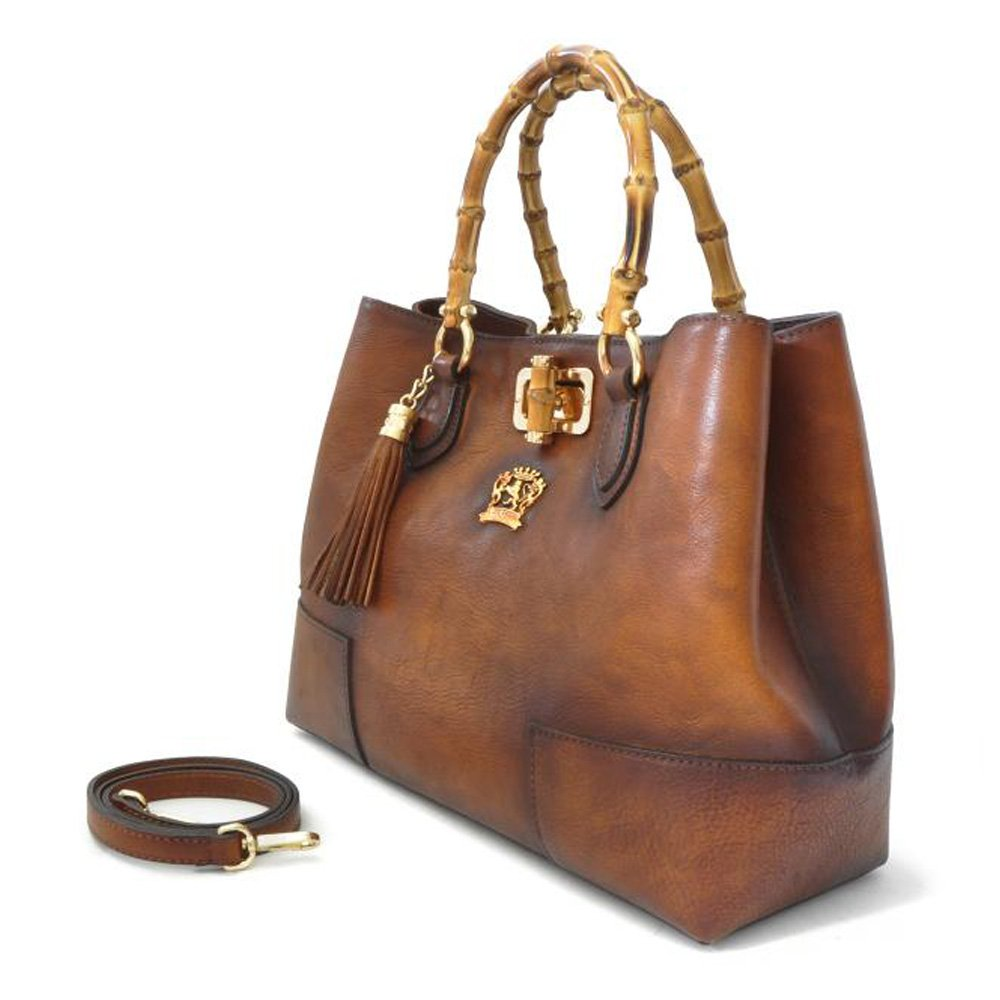 2505cb509c Pratesi Designer Bambu Aged Leather Tote Handbag Shoulderbag (black)   Handbags  Amazon.com