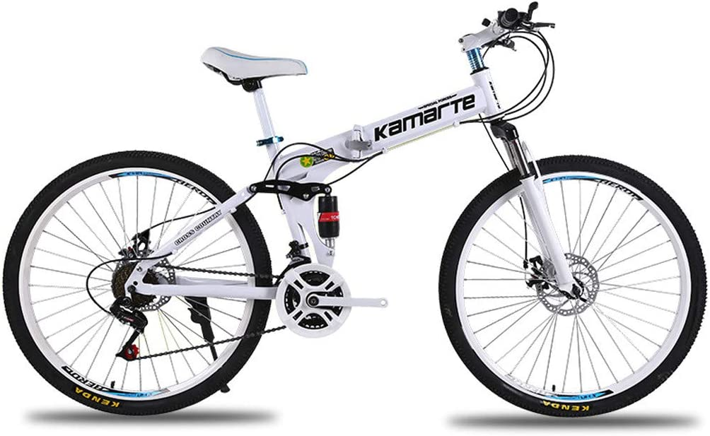Small Portable Bicycle Adult Student Great for Urban Riding and Commuting LENXH 24in Folding Mountain Bike