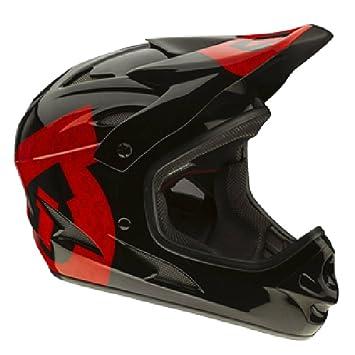 Desconocido 661 Comp - Casco integral para moto negro negro/rojo Talla:extra -