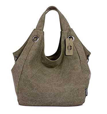 KISS GOLD(TM) Women's Simple Style Vintage Canvas Totes Hobo Bag ...