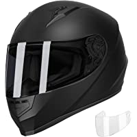 GLX GX11 Compact Lightweight Full Face Motorcycle Street Bike Helmet with Extra… photo