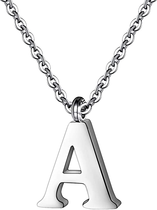 E Big Letter Pendant Stainless steel Large Alphabet Initial necklace Upper case letter Jewelry Findings Supplies bf1102-34