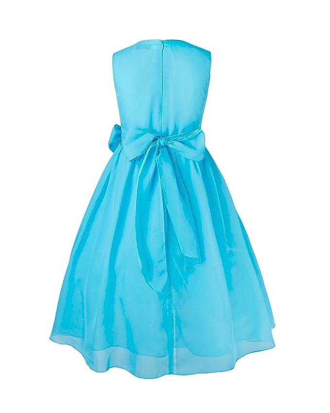 iEFiEL Vestido de Fiesta Princesa Gasa Bautizo Boda para Niña Vestido Casual de Ceremonia (4-14 Años): Amazon.es: Ropa y accesorios