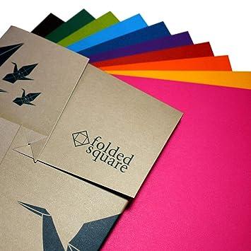 Conjunto de regalo de 100 hojas de papel para papiroflexia de colores Pantone - Colección de