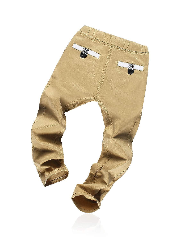 Demon/&Hunter Boys Straight Leg Stretch Elastic Pants DCK3001 Beige