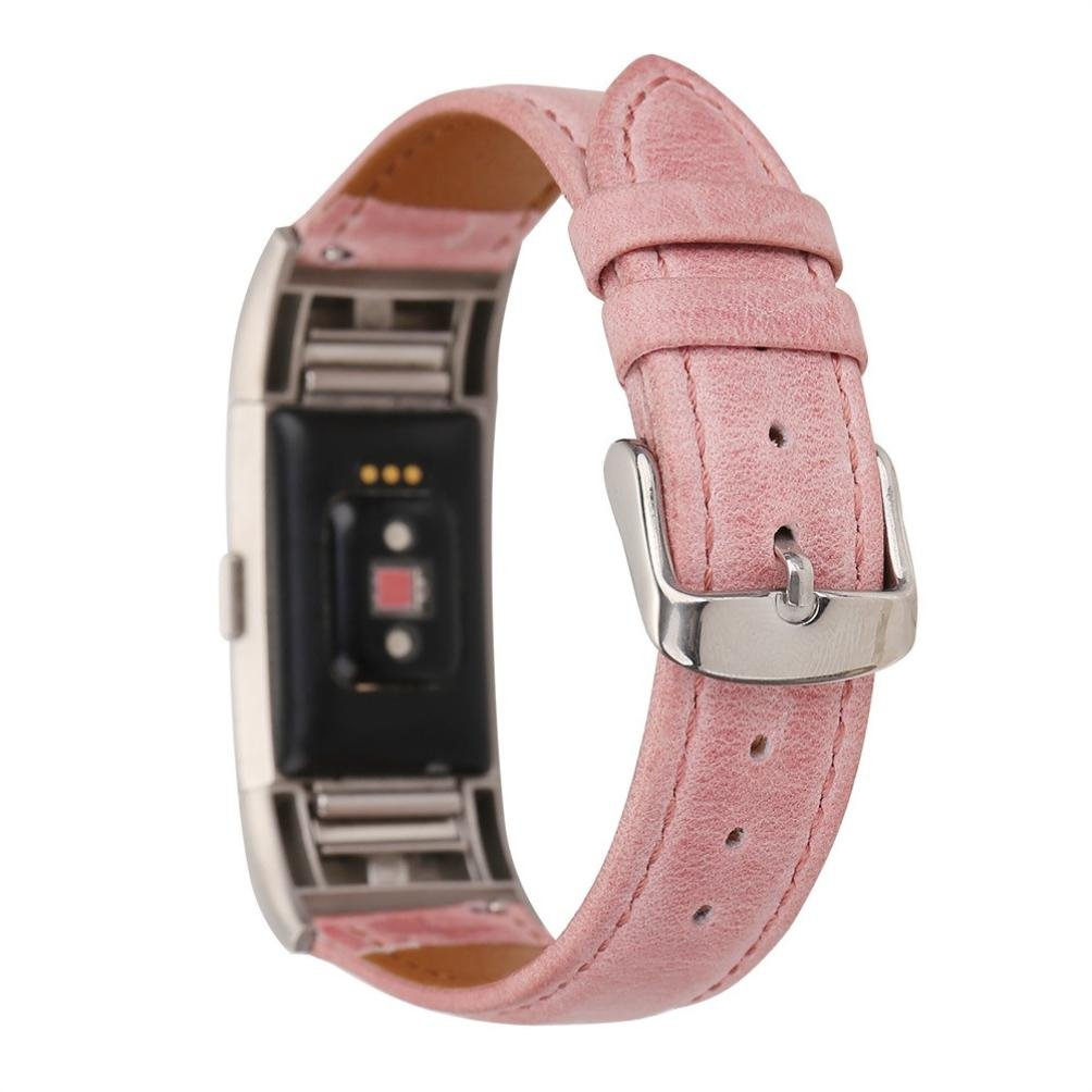 HP95(TM) For Fitbit Charge 2 Accessories Bands, Women Fashion Leather Strap Replacement Watch Band For Fitbit Charge 2 (Pink)