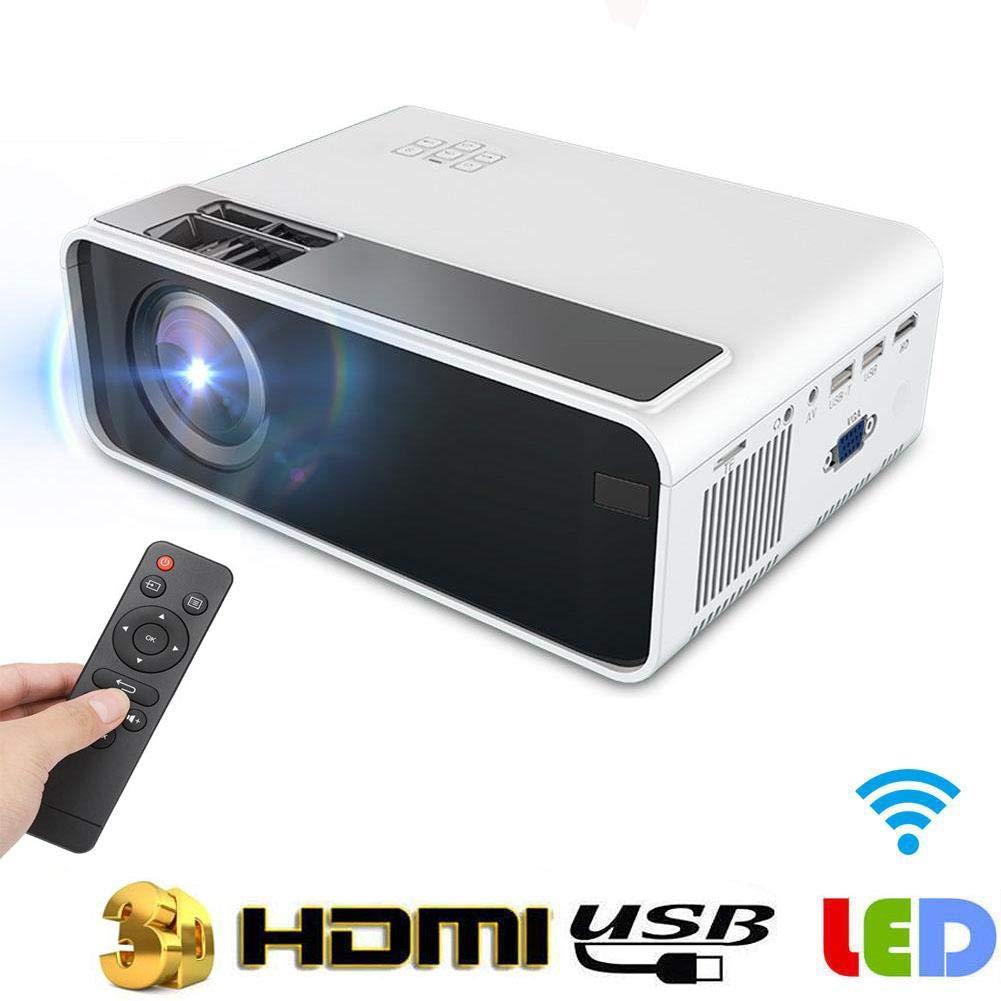Portable 3D Projector,Mini Red Blue 3D HD 720P 1280 720LED 16770K Color USB//HDMI//VGA//AV//TF Input,Speaker//Earphone Output Smart Heat Dissipation Home Theater Beamer,30000H Light Life US