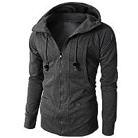 Sweatshirt à Capuche CIELLTE Homme Sports Hoodies Automne Hiver Manches Longues Pull Grand Taille Manteau Veste Couleur Unie Blouses Tops