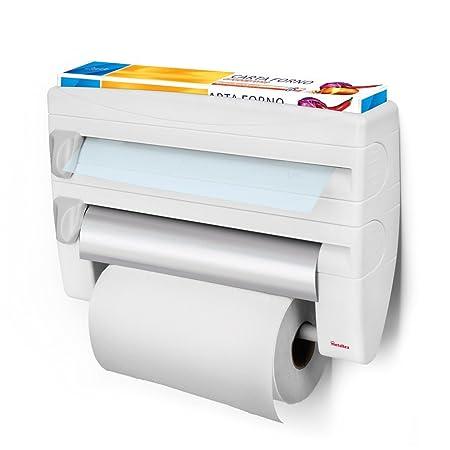 metaltex roll n roll 4 in 1 kitchen roll holder dispenser - Kitchen Roll