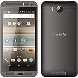 Vkworld VK800x Mtk6580 5.0 pulgadas teléfono inteligente Android de 5.1 bloqueado 8 GB de RAM + 1 GB ROM quad-core 1.3 GHz 8 MP dual SIM WCDMA & GSM teléfono (negro)
