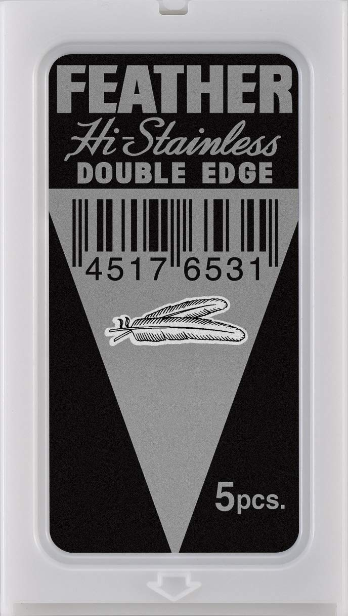 100 Feather Razor Blades NEW Hi-stainless Double Edge by Feather (Image #2)