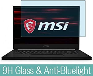 "Synvy Anti Blue Light Tempered Glass Screen Protector for MSI GS66 Stealth 15.6"" Visible Area 9H Protective Screen Film Protectors (Not Full Coverage)"