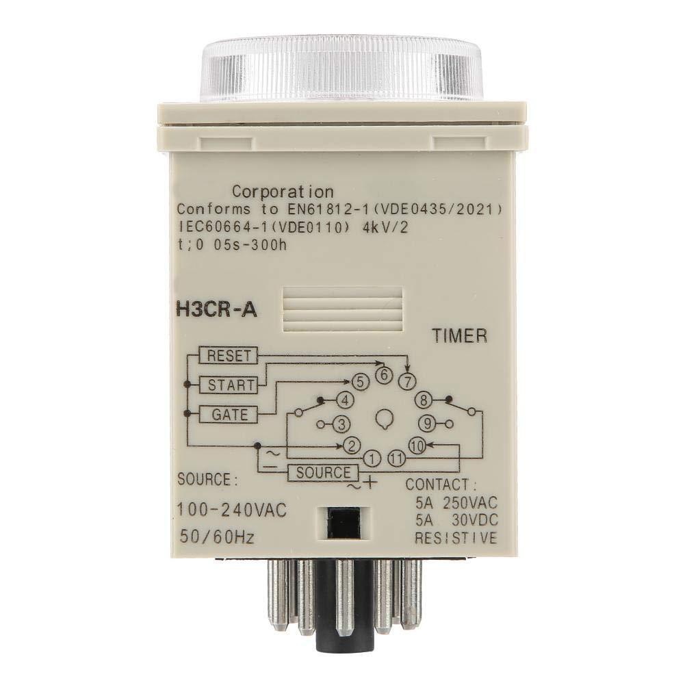 Rel/é de tiempo de control de perilla interruptor de control de tiempo de rel/é de temporizador de retardo para automatizaci/ón industrial 0.5S-300H, H3CR-A