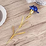 BESTOYARD-Foil-Artificial-Carnation-Flowers-for-Valentines-Day-Mothers-Day-Birthday-Wedding-Favor-with-Gift-Box-Blue