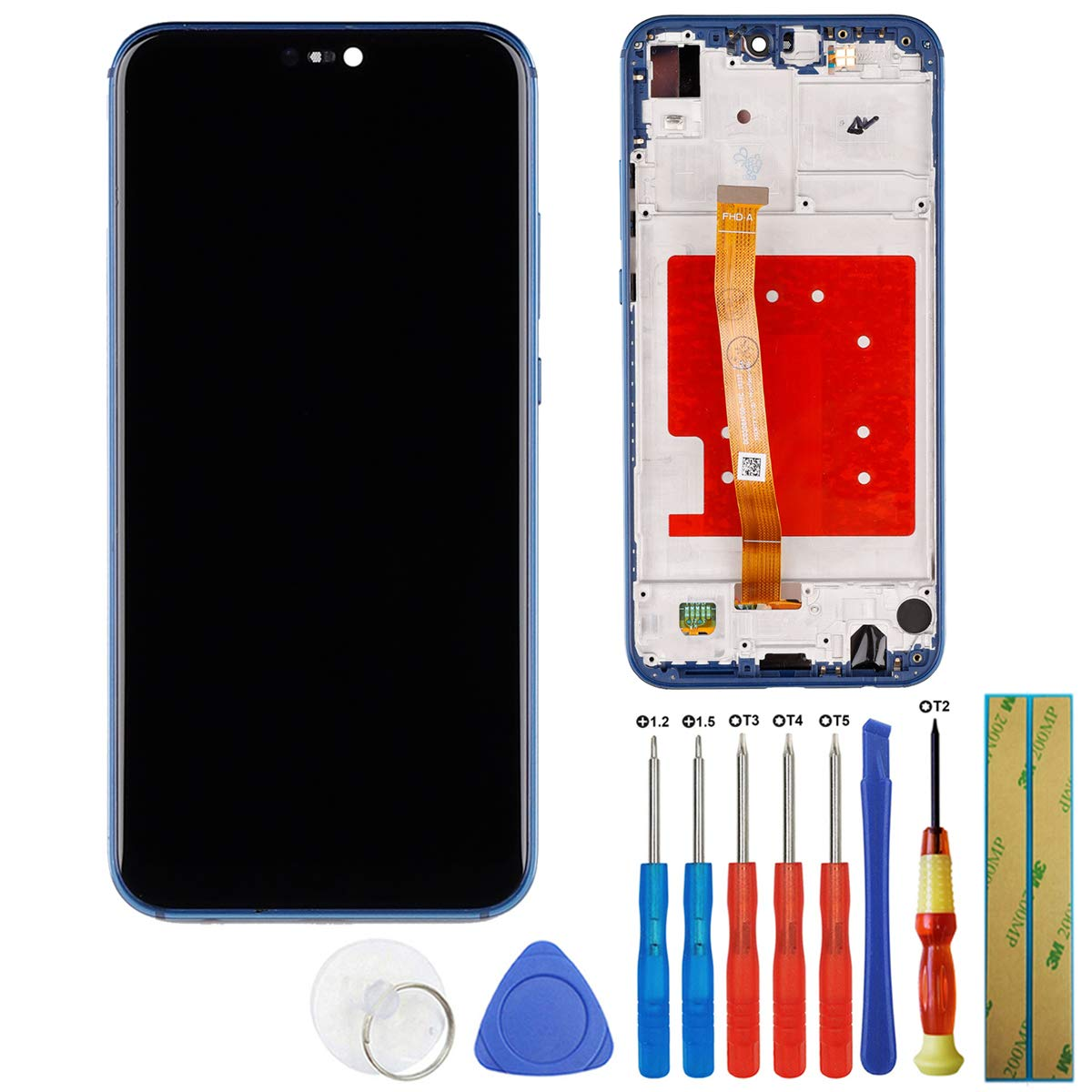 E-yiiviil Replacement LCD Display Touch Screen Digitizer Assembly Full for Huawei P20 Lite/Nova 3e ANE-LX2 ANE-L22 ANE-LX1 ANE-L21 ANE-AL00 5.84''(Frame+Blue) + Tools by E-YIIVIIL