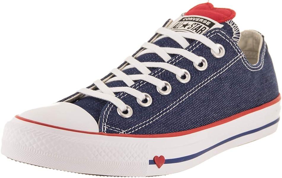 97482955f28a Converse Chuck Taylor All Star Ox Big Kids Men s Shoes Indigo Enamel Red